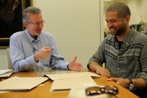 Jason Moran visits the Music Division at the Library of Congress.